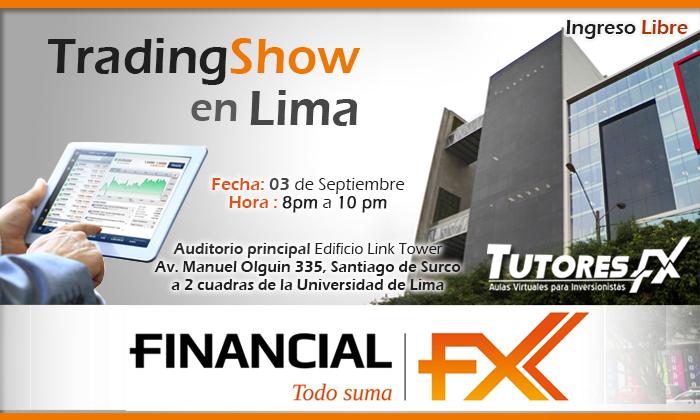 TradingShow en Lima / Jueves 3 de Septiembre